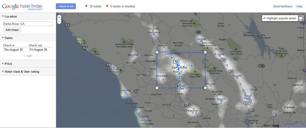 Google Hotelfinder Heatmap